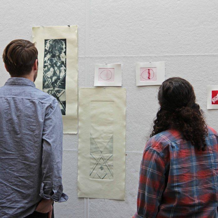 Ben Rinehart's printmaking class.