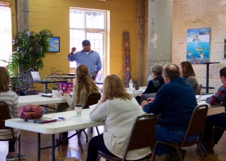 Professional Practices for Artists Workshop. ARTgarage, Green Bay. Photo by Kim Menzer Pigeon.